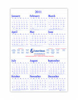 House of Doolittle Custom-Printed Poster-Style Yearly Calendar (Ordering Minimum is 500)