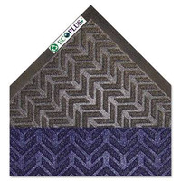 "Crown EcoPlus Mat, 4"" x 6"" Midnight Blue and Charcoal"