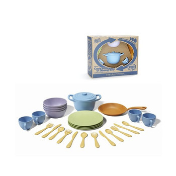 Green Toys Play Cookware and Dining Set for Kids