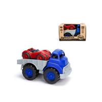 Green Toys Blue Flatbed Truck and Red Race Car Set