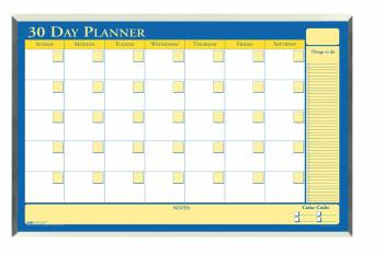 House of Doolittle (HOD6663) 60-Day Laminated Planner in Aluminum Frame 40 x 26
