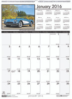 House of Doolittle (HOD3772) Earthscapes Classic Cars Wall Calendar 12 x 16 1/2