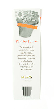 Plantable Flower Pot Bookmark