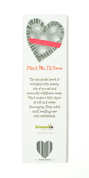 Plantable Heart Bookmark