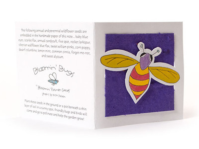 "Donnie"" Violet Seed Paper Bug Tags"