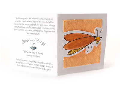 """Jimmy"" Orange Seed Paper Bug Tags"