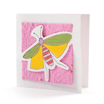 """""""Suzy"""" Pink Seed Paper Bug Tags"""