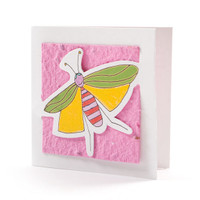 """Suzy"" Pink Seed Paper Bug Tags"
