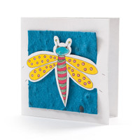 """Julie"" Teal Seed Paper Bug Tags"