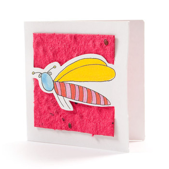 """Johnny"" Cranberry Seed Paper Bug Tags"