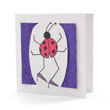 """Ricky"" Violet Seed Paper Bug Tags"