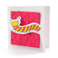 """Normy"" Cranberry Seed Paper Bug Tags"
