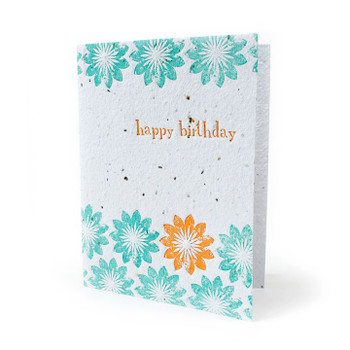 Birthday Blooms Seed Paper Card