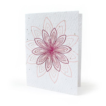 Lovely Lotus Seed Paper Card
