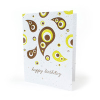 Pretty Paisley Birthday Seed Paper Card