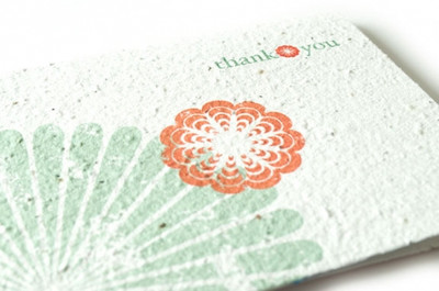 Cherry Blossom Thank You Seed Card