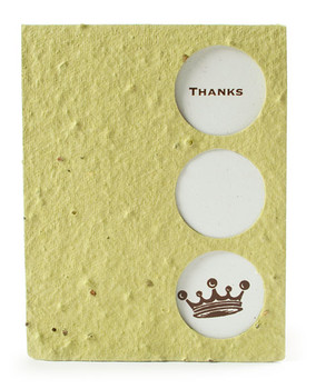 Thank You Seed Paper Keepsake Card
