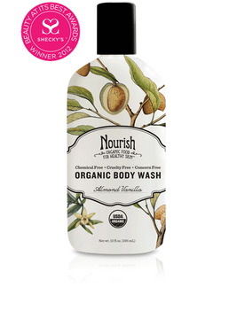 Moisturizing Cream Organic Body Wash-Almond Vanilla