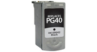 Canon PG-40, Remanufactored InkJet Cartridges, Black