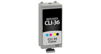 Canon CLI-36, Remanufactured InkJet Cartridges, Color