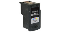 Canon CL-211XL, Remanufactured InkJet Cartridges, Color (High Yield)