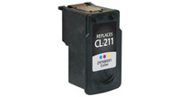 Canon CL-211, Remanufactured InkJet Cartridges, Color