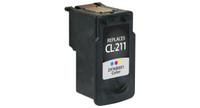 Canon CL-211, Remanufactured InkJet Cartridges, Color
