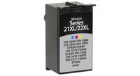Dell Series 21/22, Remanufactured InkJet Cartridges, Color (High Yield)
