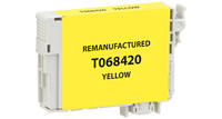 Epson T068420, Remanufactured InkJet Cartridges, Yellow, (High Capacity)