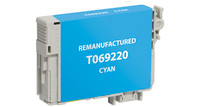 Epson T069220, Remanufactured InkJet Cartridges, Cyan