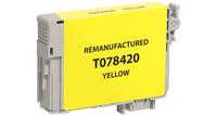 Epson T078420, Remanufactured InkJet Cartridges, Yellow