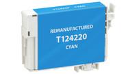 Epson T124220, Remanufactured InkJet Cartridges, Cyan