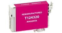 Epson T124320, Remanufactured InkJet Cartridges, Magenta