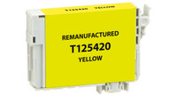 Epson T125420, Remanufactured InkJet Cartridges, Yellow