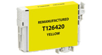 Epson T126420, Remanufactured InkJet Cartridges, Yellow (High Capacity)