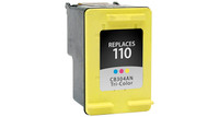 HP 110, Remanufactured InkJet Cartridges, Tri-Color