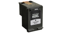 HP 60XL, Remanufactured InkJet Cartridges, Black (High Yield)
