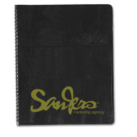 "Monthly Planner with Embossed Simulated Leather Cover 8-1/2 x 11"" QTY 25"