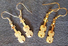 Sparkling Violin Earrings
