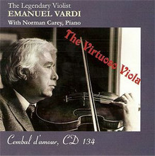 The Virtuoso Viola: Emanuel Vardi CD