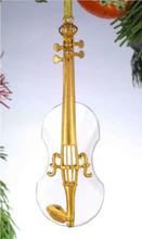 Crystal Violin Ornament