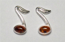 Honey Amber 8th Note Earrings