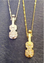Sparkling Violin Necklace