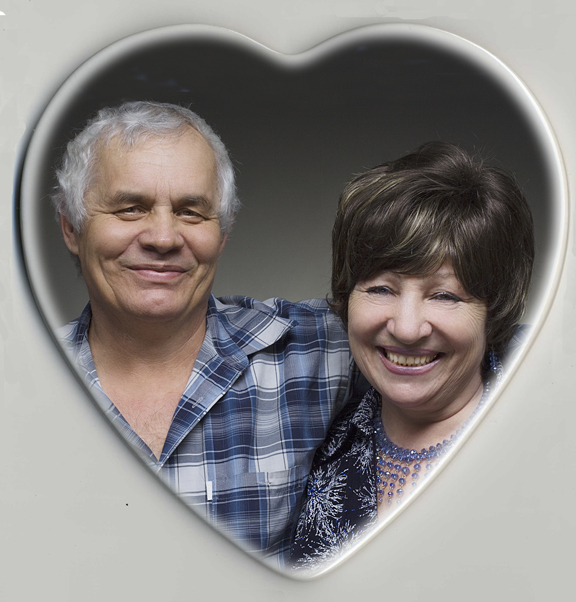 Heart Shaped Photo Memorial Plaques