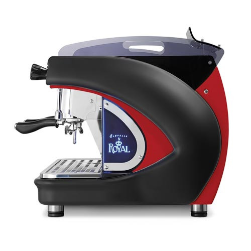 ROYAL T2 1 Group Automatic Espresso Coffee Machine Black/Red 2000w