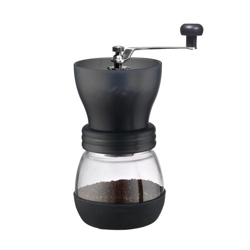 Tiamo Manual Ceramic Burr Coffee Grinder Black