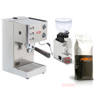 LELIT PL81T Grace Single Boiler PID Espresso Coffee Machine and LELIT Doser-less Grinder Combo