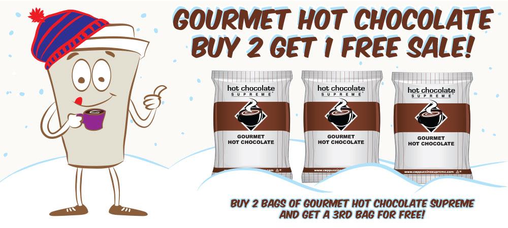 Gourmet Hot Chocolate Buy 2 Get 1 Free Sale!