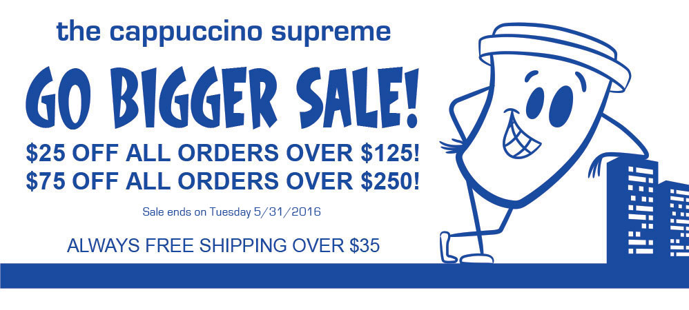 $25 off all orders over $125 and $75 off all orders over $250!