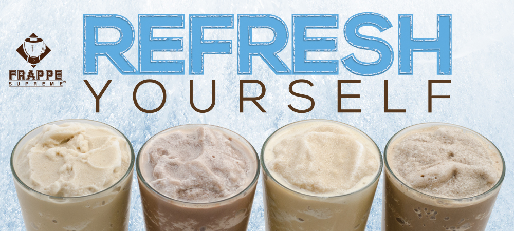 Refresh yourself with frappe supreme frozen drink mixes